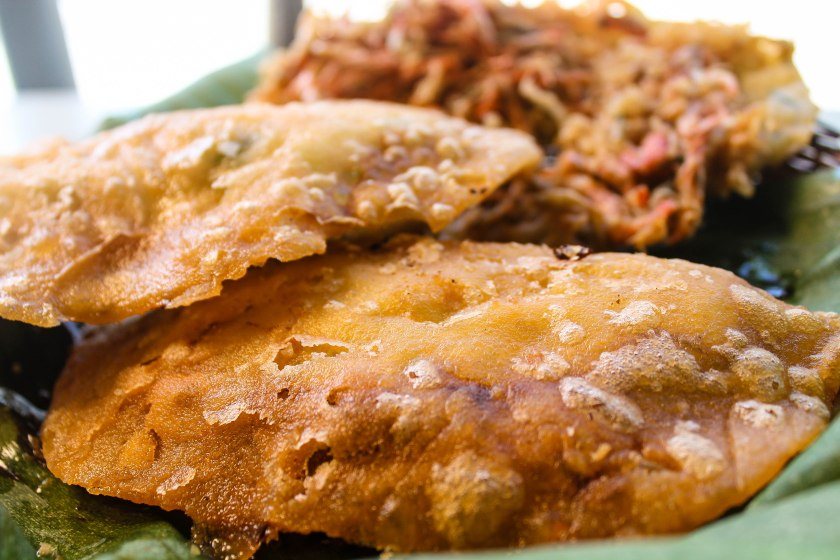 Vigan Empanada. A mixture of flour. egg. vegetables,meat fillings, salt and oil.